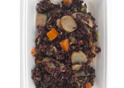 riso nero con porro  e topinamburg