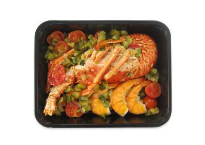 aragosta al vapore con verdure