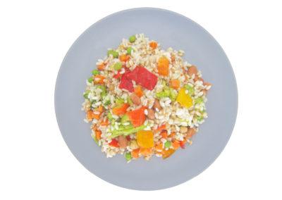 Bis di cereali con ortaggi