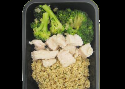 quinoa bocconcini pollo e broccoli