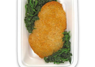 cotoletta vegetariana con spinaci